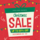 Holiday Christmas Sale Flyer - GraphicRiver Item for Sale