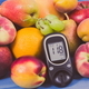 Free Download Glucose meter for measuring sugar level and healthy nutritious food as source vitamins Nulled