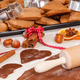 Free Download Dough, accessories with ingredients for baking gingerbread and fresh baked Christmas cookies Nulled