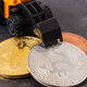 Free Download Bitcoins with miniature excavator, mining cryptocurrency and international network payment concept Nulled