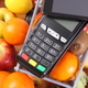 Free Download Payment terminal and mobile phone with NFC technology, cashless paying for shopping Nulled