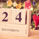 Free Download Vintage photo, Date 24 December on calendar, festive tree with decoration Nulled