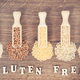 Free Download Vintage photo, Various groats, brown rice, amaranth and quinoa seeds Nulled