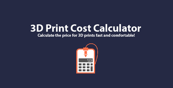 3D Print Cost Calculator for Windows