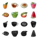 Collection of Food and Sweets - GraphicRiver Item for Sale