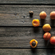 Free Download Fresh organic apricots on rustic wooden background. Fruit, food Nulled