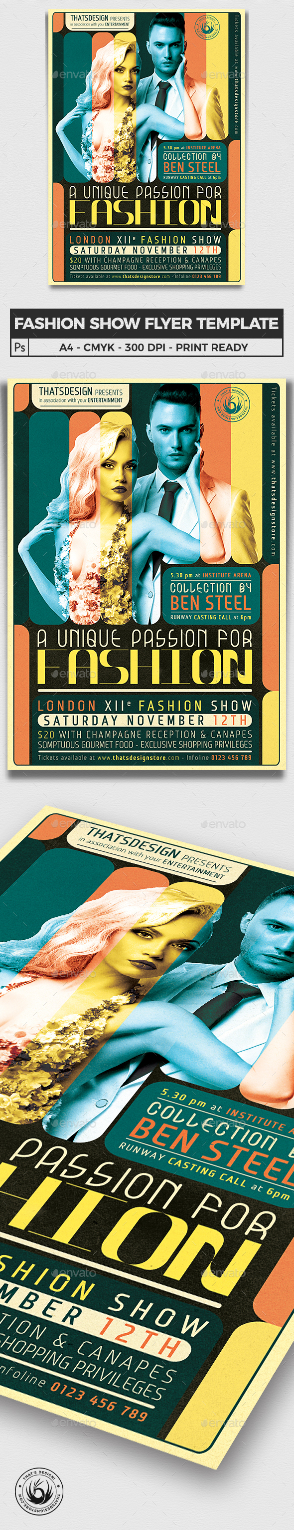 Fashion Show Flyer Template V1 - Events Flyers