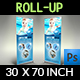 Swimming Pool Cleaning Service Signage Banner Roll Up Template Vol.2 - GraphicRiver Item for Sale