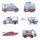 Ambulance Transport Icons Set - GraphicRiver Item for Sale