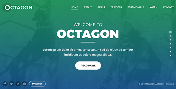 Octagon - Website Template for Portfolio, Agency and Business