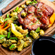 Beef steaks with grilled vegetables - PhotoDune Item for Sale