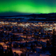 Free Download Northern Lights over Downtown Whitehorse Nulled
