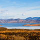 Lake Laberge Yukon boreal forest taiga fall - PhotoDune Item for Sale