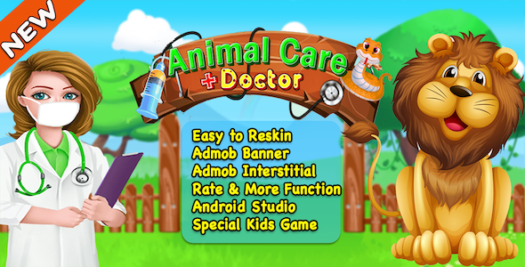 Animal Care Doctor + Best Kids Games + Ready For Publish + Android - CodeCanyon Item for Sale