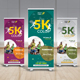 Color Run Roll Up Banner - GraphicRiver Item for Sale