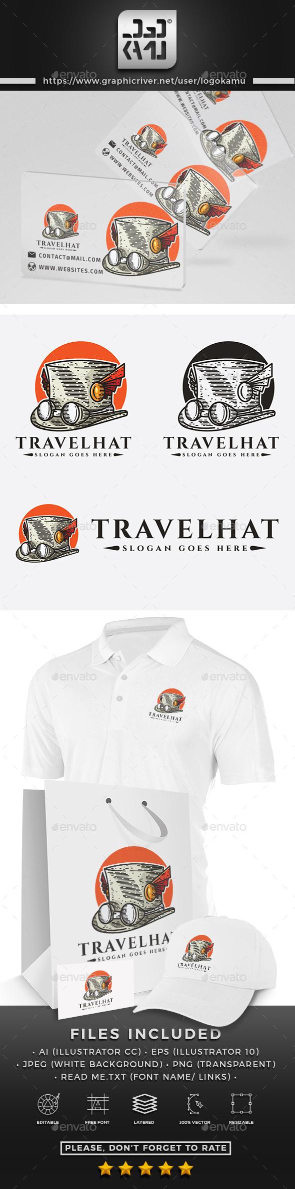 Travel Hat Logo - Objects Logo Templates
