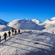 NEPAL, HIMALAYAS - 1 May 2013: Group of mountain trekkers in Himalayan mountains, Annapurna region - PhotoDune Item for Sale