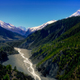 Landscape view of mountain valley and river in Himalayas, Annapurna region - PhotoDune Item for Sale