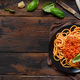 Free Download Spaghetti pasta with bolognese sauce Nulled