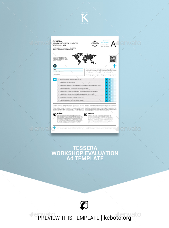 Tessera Workshop Evaluation A4 Template - Miscellaneous Print Templates