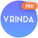 Vrinda | Portfolio PSD Template - ThemeForest Item for Sale
