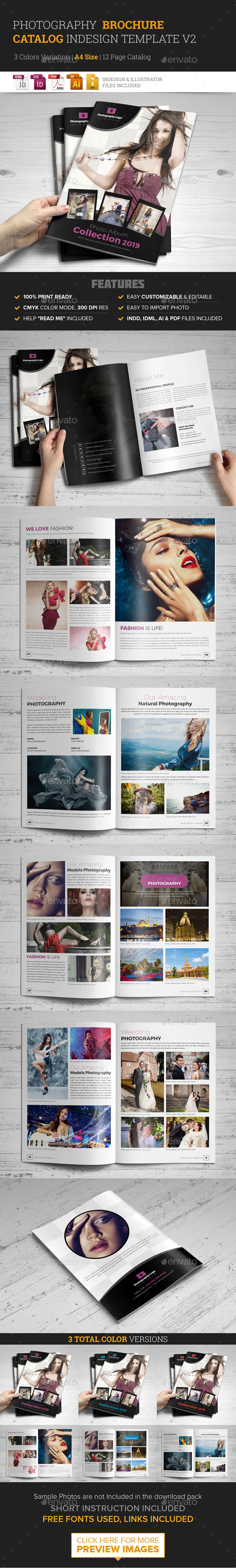 Photography Brochure Catalog InDesign Template v2 - Corporate Brochures