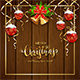 Wooden Background with Christmas Balls - GraphicRiver Item for Sale