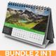 Desk Calendar 2019 Bundle - GraphicRiver Item for Sale