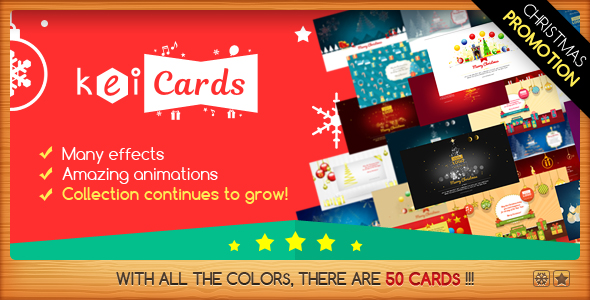 KeiCards - Package with Several Animated Cards - CodeCanyon Item for Sale