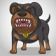 Cartoon Angry Rottweiler Dog - GraphicRiver Item for Sale