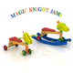Sustainable multi-functional wooden toy for little children age from 8 months to 4 years old.