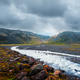 Typical Iceland landscape with river and mountains - PhotoDune Item for Sale