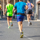 Free Download Marathon running race, runners running on city roads Nulled