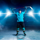 Free Download Hockey player raised his hands up, winner Nulled