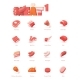Vector Meat Icon Set - GraphicRiver Item for Sale