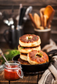 Traditional Russian deep fried meat patties (belyash) - PhotoDune Item for Sale