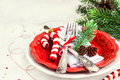 Christmas table place setting, Holiday background - PhotoDune Item for Sale