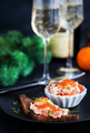 Salmon pate  with red caviar served with sliced bread - PhotoDune Item for Sale