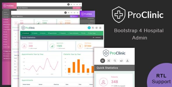 ProClinic - Bootstrap4 Hospital Admin Template
