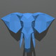 elephant figure low poly - 3DOcean Item for Sale
