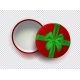 Opened Red Empty Gift Box with Green Ribbon - GraphicRiver Item for Sale