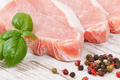 Raw meat pork steaks with spices containing protein for lunch or dinner - PhotoDune Item for Sale