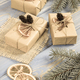 Aged photo, Wrapped gifts with decoration for Christmas or other celebration - PhotoDune Item for Sale