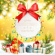 Holiday Christmas Background With Gift Card and Presents - GraphicRiver Item for Sale