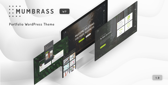 Mumbrass - Full Screen Personal Portfolio WordPress Theme