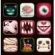 Scary App Icons on Black Background. Creepy Mobile - GraphicRiver Item for Sale