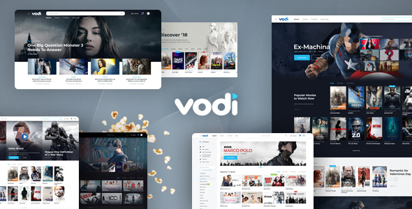 Vodi - Video Streaming and Magazine PSD Template - Film & TV Entertainment
