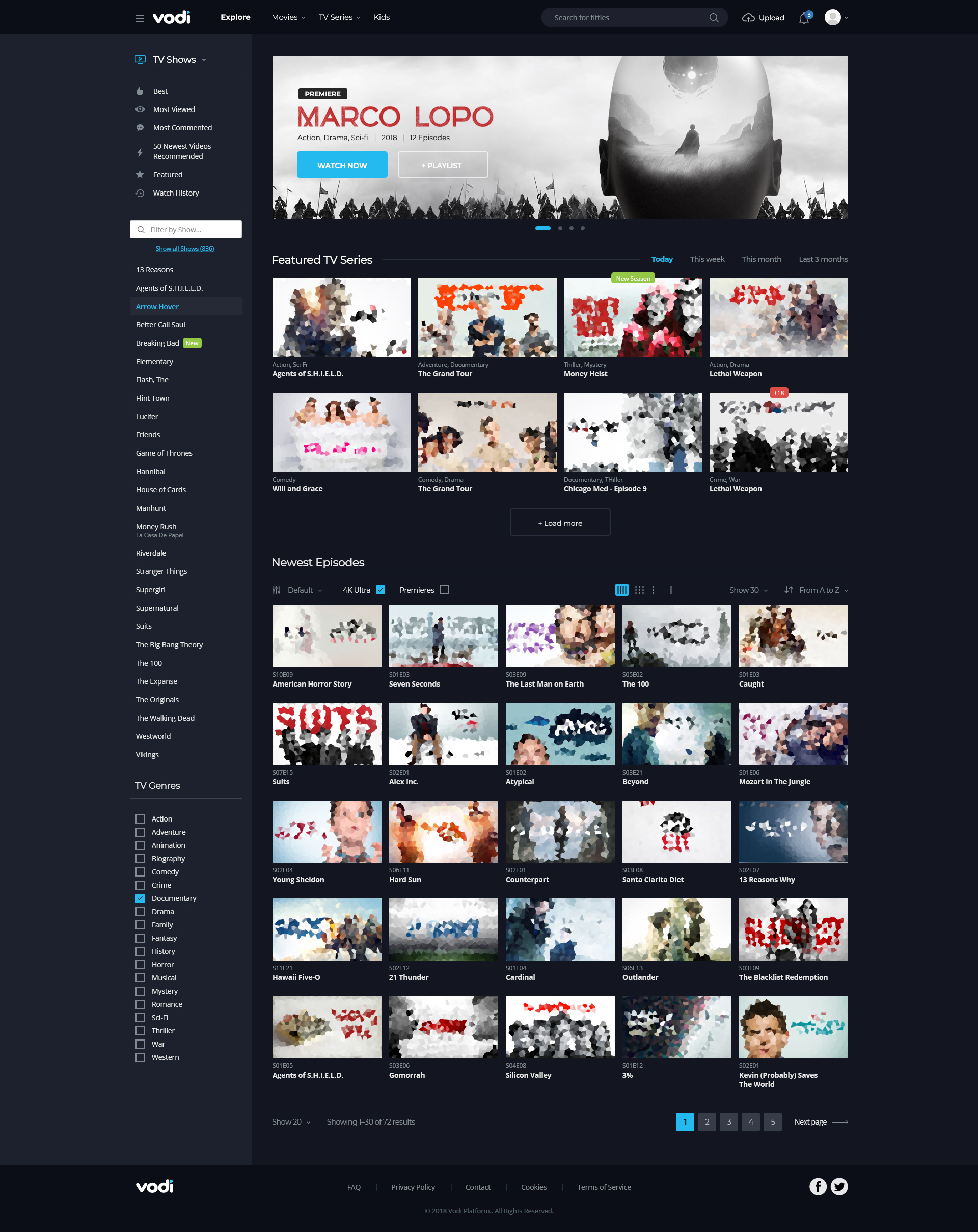 00 Vodi Psd Template Jpg 01 Homepage 1410px Dark 02 Light 03 Magazine 04 Sports
