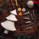 Painting styrofoam Christmas tree - PhotoDune Item for Sale