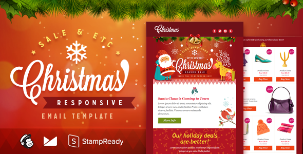 Christmas - Responsive Email + StampReady Builder